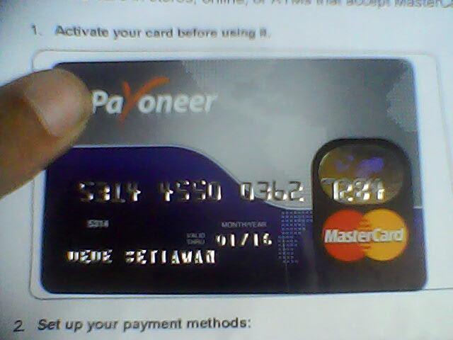cara gratis membuat debit card payoneer