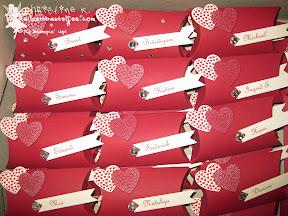 stampin up hearts a flutter pillow box wedding hochzeit bitty banners fähnchen