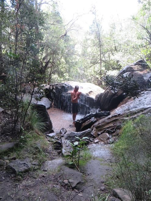 natuurlijke douche, zuidelijke Drakensberg - Zuid Afrika