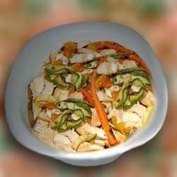 Салат из куриной грудки и кабачков. Рецепт приготовления