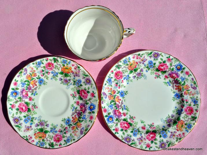 Springtime Pattern Crown Staffordshire Vintage Bone China