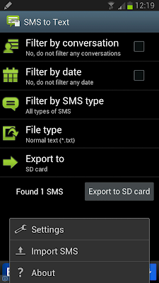 Import SMS