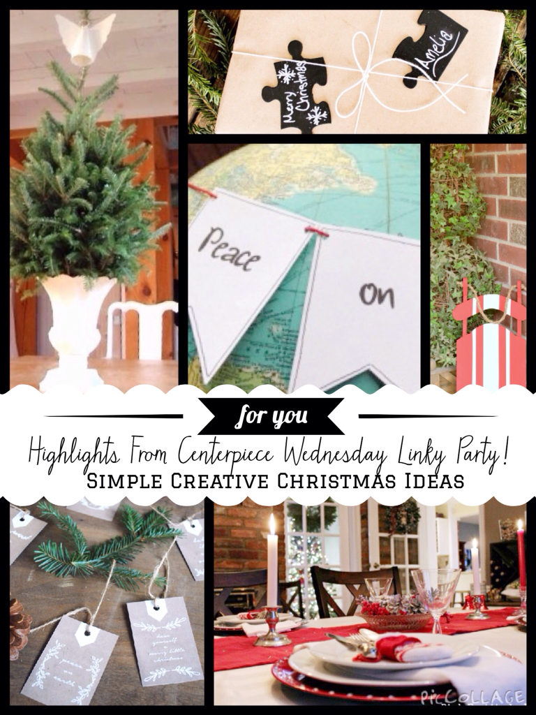 Centerpiece Wednesday- Simple Christmas ideas - The Style Sisters