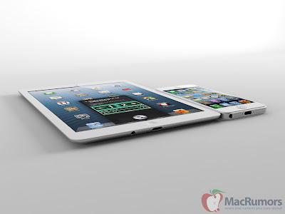 iPad miniとiPhone5の3Dイメージ:Mac Rumors