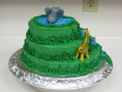 Junle Animal Cake - Back View