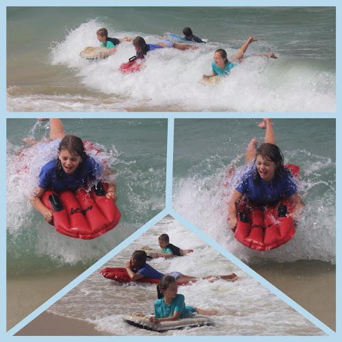 TeamBray kids at Woodgate beach