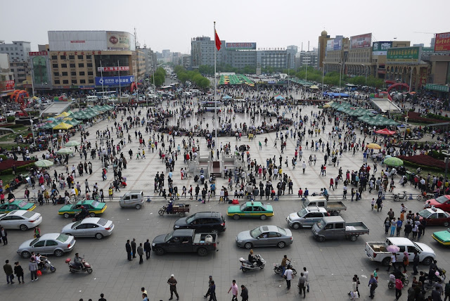 Nanmen Square in Yinchuan China