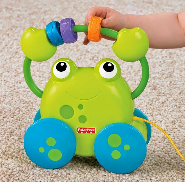 Đồ chơi Xe kéo Ếch Cốm Pull Along Froggie là món đồ chơi rất bổ ích và lý thú