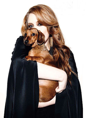 Adele and a dog