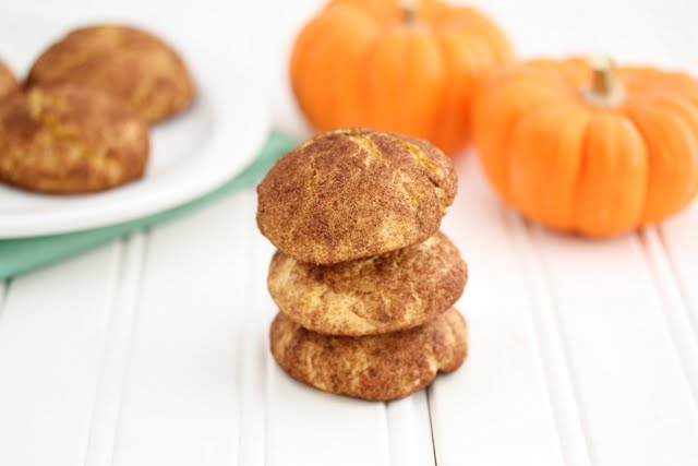 photo of a stack of Pumpkin Snickerdoodles