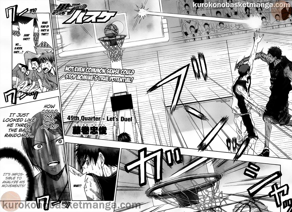 Kuroko no Basket Manga Chapter 49 - Image 02-03