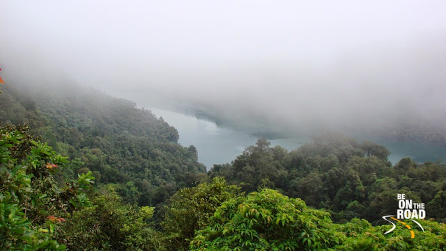 Sharavathi River Valley covered by rain clouds