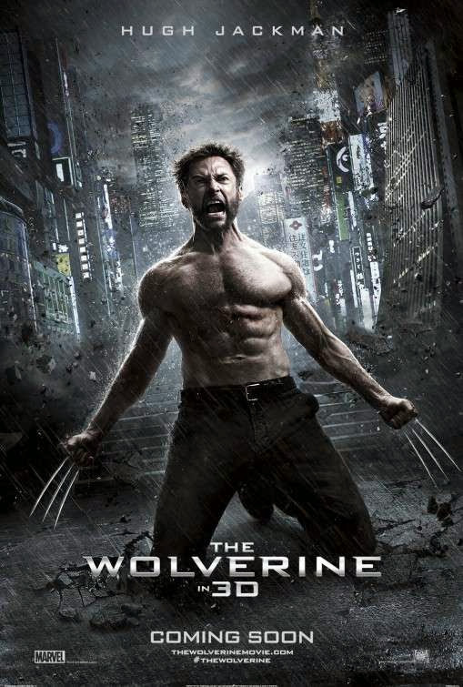 Poster Of The Wolverine (2013) Full Movie Hindi Dubbed Free Download Watch Online At Alldownloads4u.Com