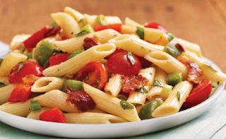 Πένες με Φασολάκια και Πιπεριές, Penne with Green Beans and Peppers.