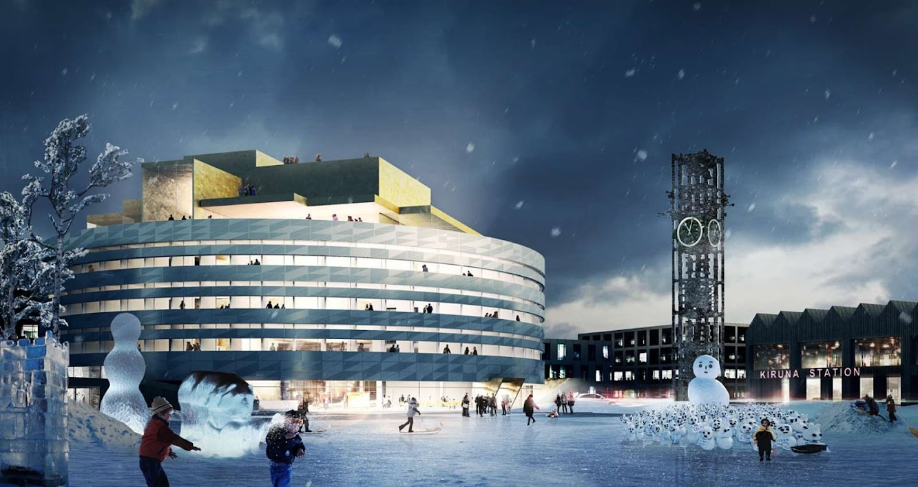 Kiruna, Svezia: Henning Larsen Architects Wins Kiruna City Hall Competition