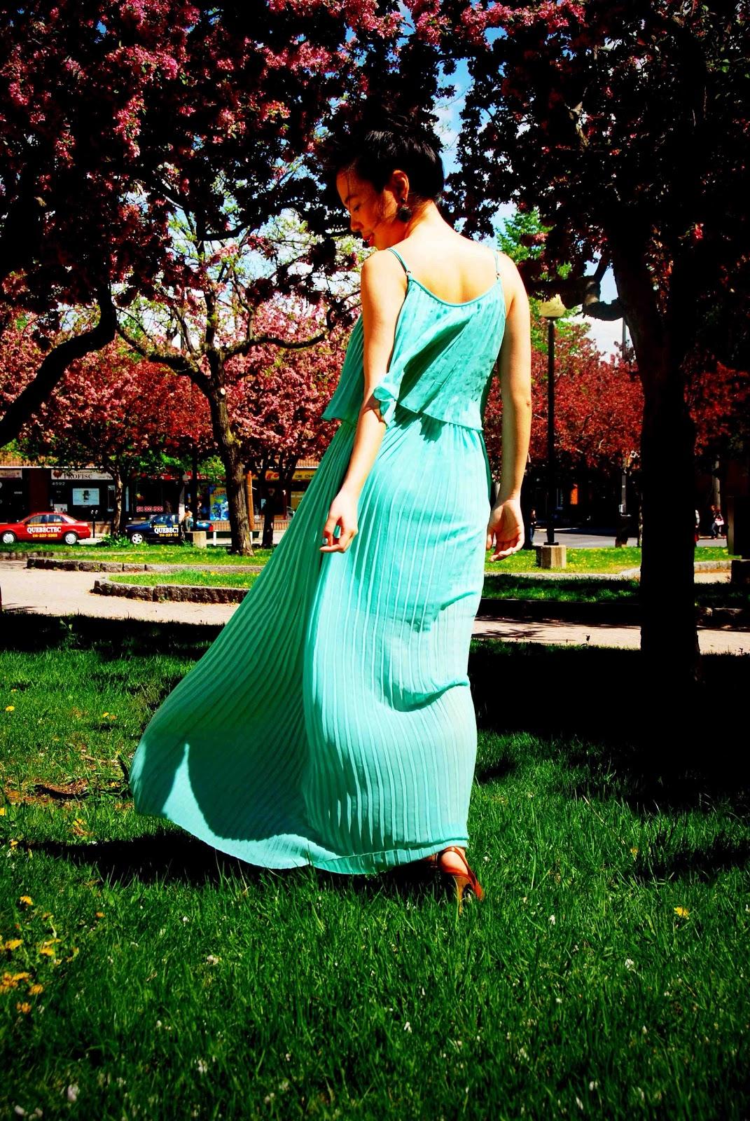 seafoam maxi dress