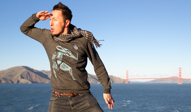 Graphic Sweatshirts: Jason salutes