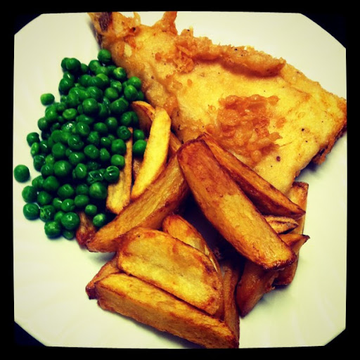 Haddock Fried in Organic Beer Batter and Twice Cooked Chips