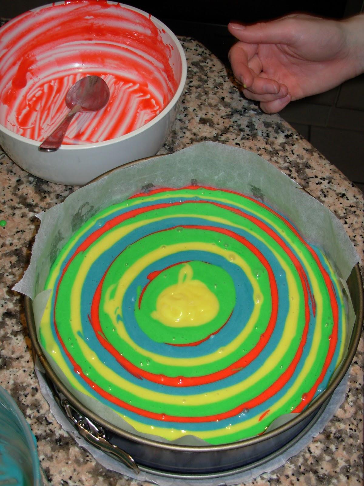 Miri\'s Kitchen: Regenbogen- Zebra – Kuchen