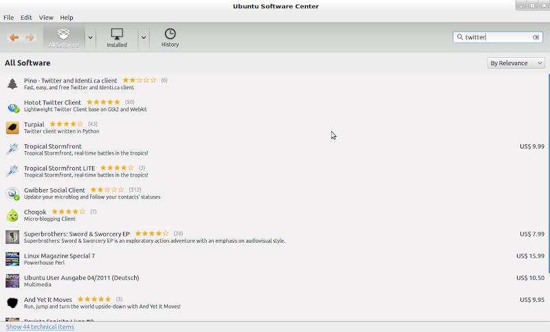 Aplikasi Twitter di Ubuntu Bernama Hotot
