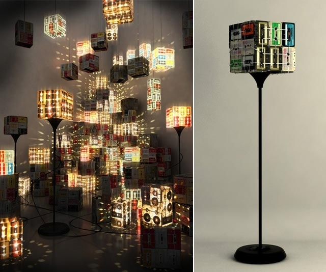 Cassette Tape Floor Lamp