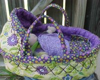 In Stock at Etsy - Baby in a Basket 10 inch Gabby w/ 2 outfits