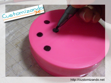 Customizando potinho da Granado (porta-jóias)