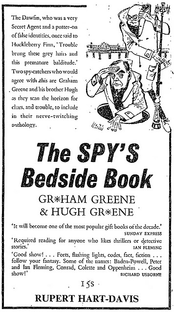 i spy by graham greene Graham greene was one of the most important novelists of the 20th century, and one of the greatest spy novelists of all time he also holds the dubious honour of having worked for mi6 during ww2 but being spied on by the fbi as a suspected communist few spies have fbi files, so greene is in a very small and distinct club.