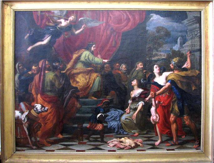 Restauration du Jugement de Salomon, Anonyme, XVIIème siècle