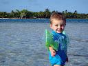 Matimu also really enjoyed the beach!