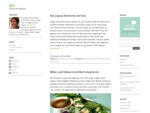 Ari | Plantilla para Blogger 1