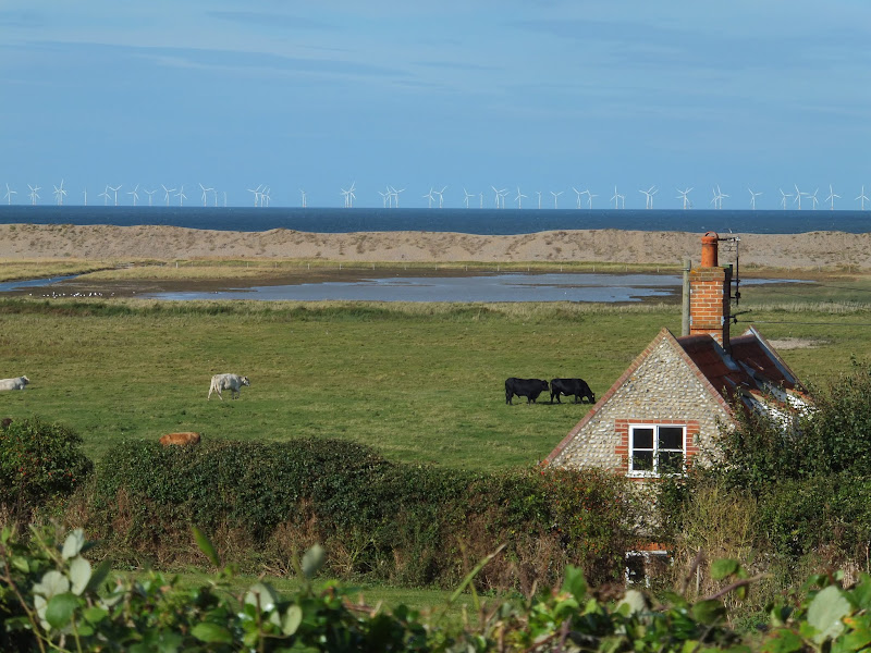 View from the hillside between Salthouse and Cley