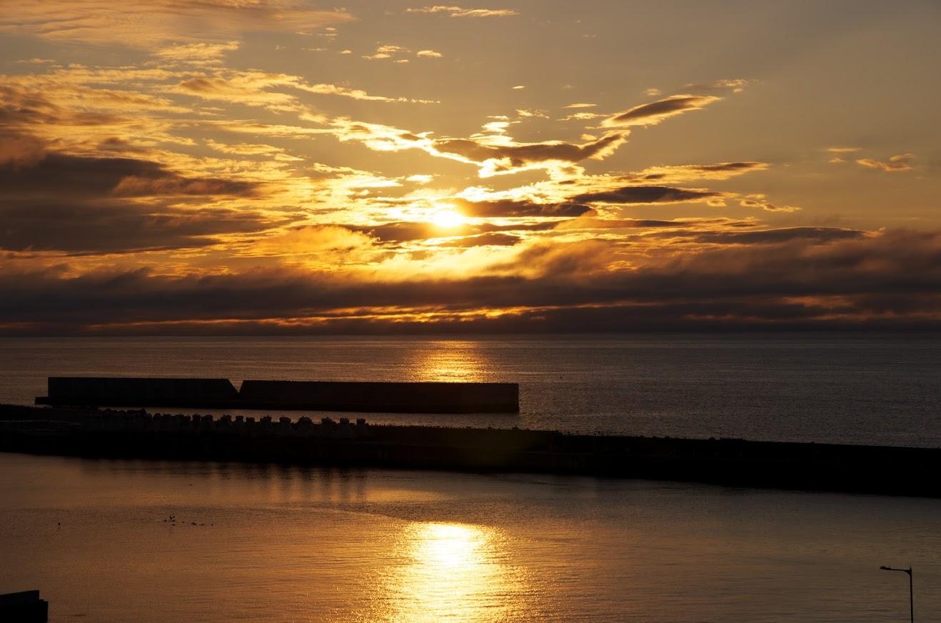 知床の夕陽