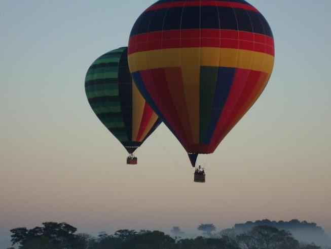 dicas de ferias de julho,passeio de balão em shopping,acampamento, salto de paraquedas, voo de balão em boituva