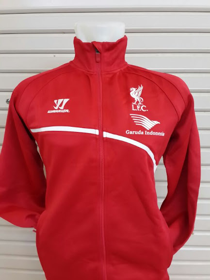 Jaket Training Liverpool Merah Garuda Indonesia 2014-2015