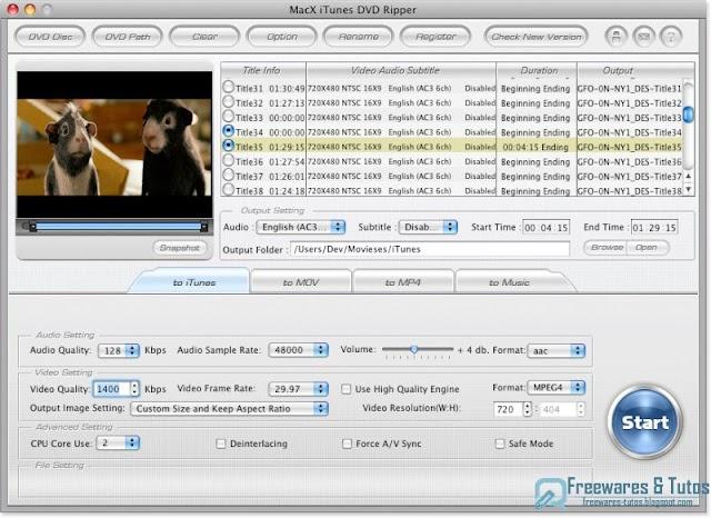 [Relance] Concours : 20 licences de MacX iTunes DVD Ripper (pour Mac) à gagner !