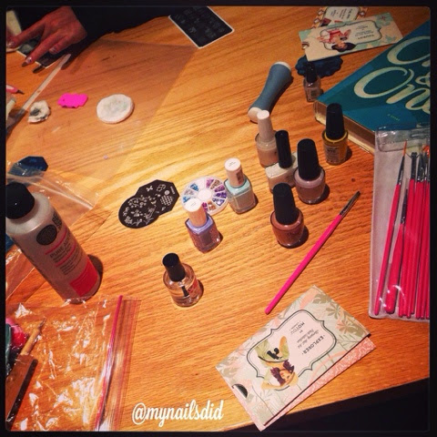 girls night nail art party
