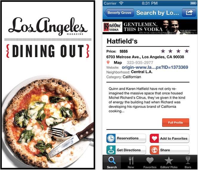 Los Angeles Dining Out (11 Apps to Make Life Easier Living in LA).