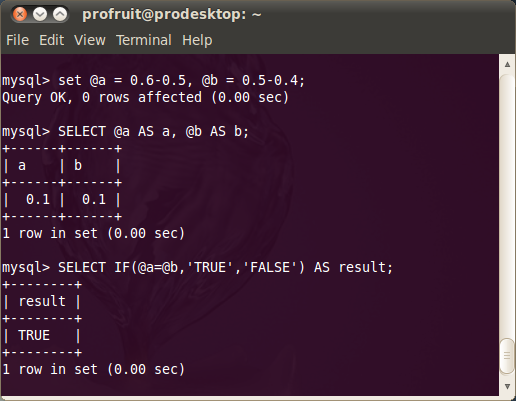 Апроксимация в (My)SQL