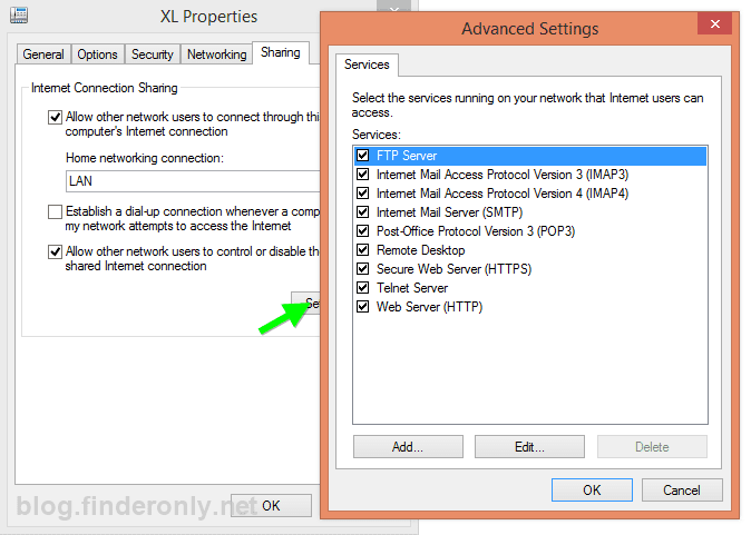 gambar setting modem usb sharing internet