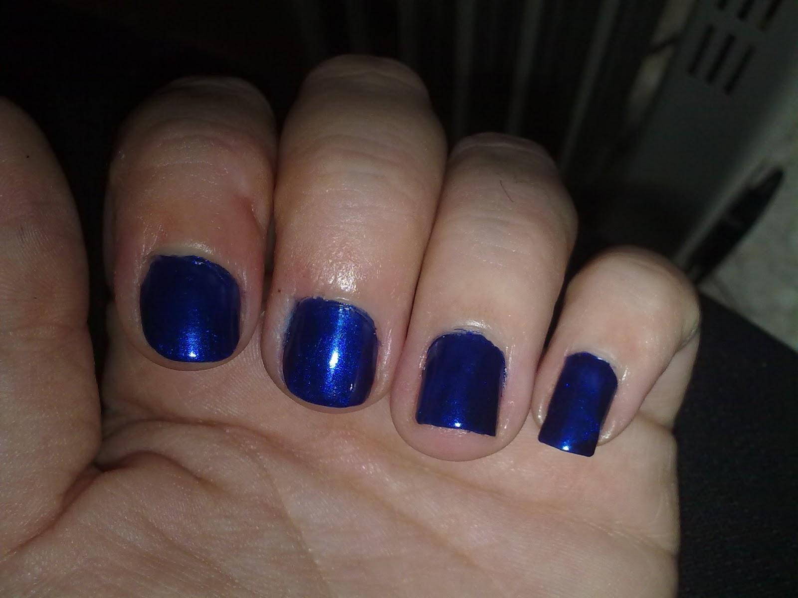 Esmalte De Uñas Deliplus Tono Nº68 Azul Electrico