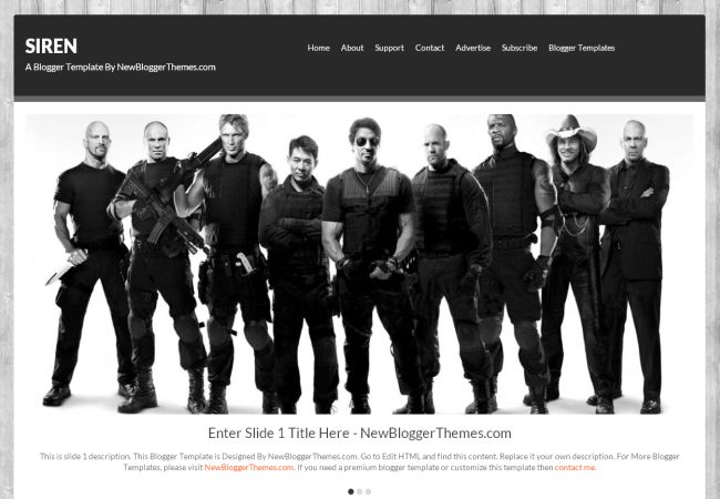 Free Black Design Blogger Layout Template