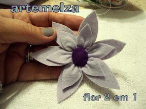 artemelza - flor 2 em 1