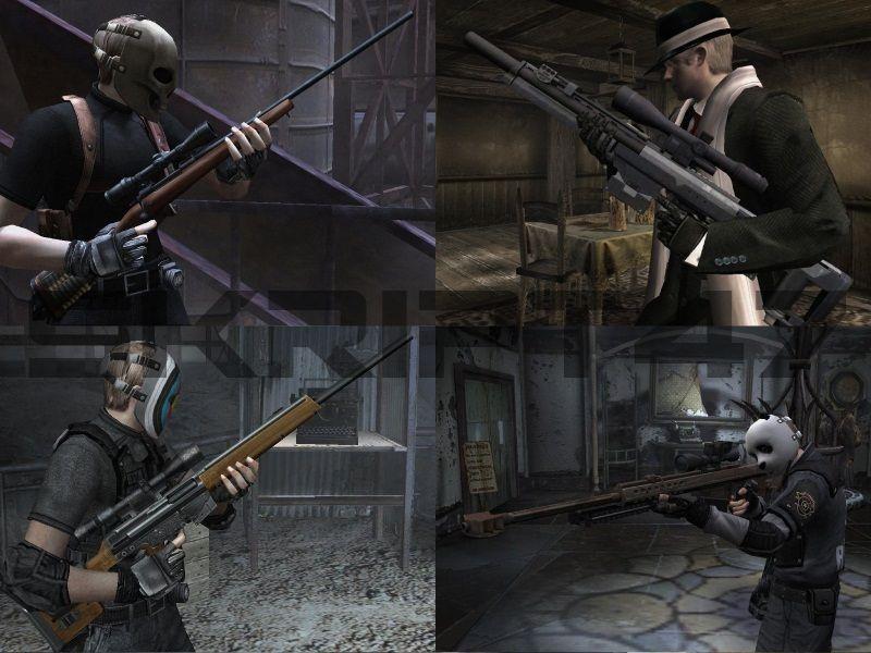 Resident Evil 4 Barrett M82A, DSR-1, M70, PSG-1 Ware