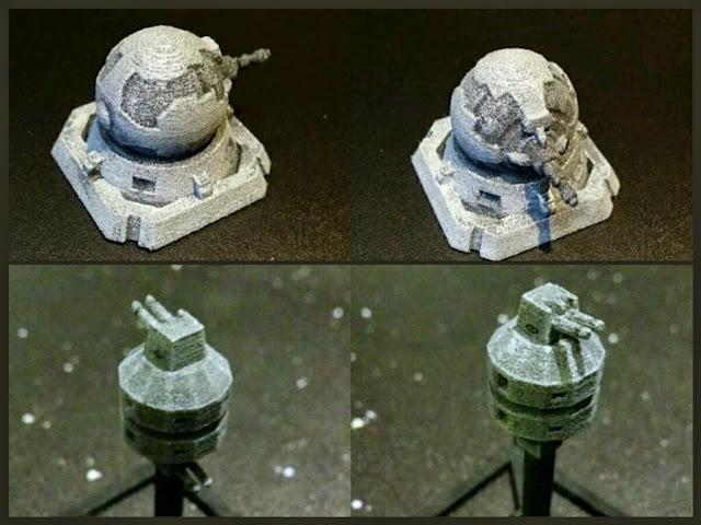 Torreta laser y Bateria laser Rebelde de Mel Miniatures