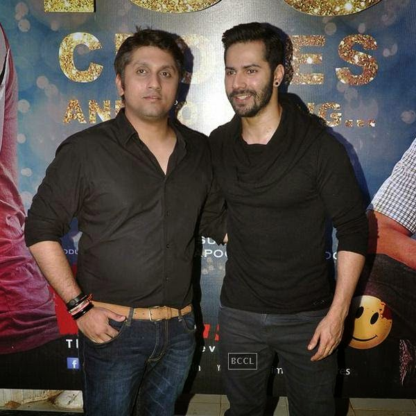 Mohit Suri and Varun Dhawan pose together during the success party of Bollywood movie 'Ek Villain', held at Ekta Kapoor's residence on July 15, 2014.(Pic: Viral Bhayani)