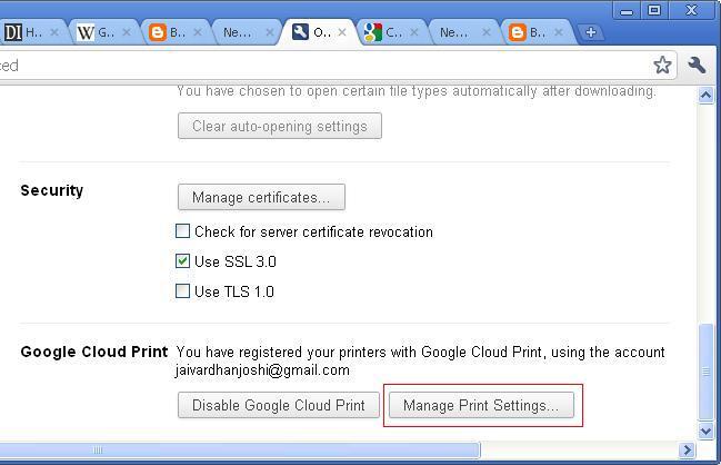Jaivardhan Joshi on ASP Net: Google Cloud Print - Cloud