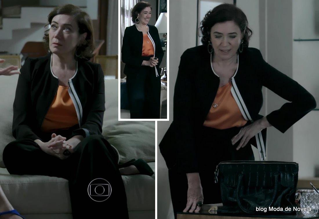 moda da novela Império, look da Maria Marta dia 7 de outubro