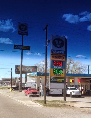 Valero Gas Station sign shows $3.03 per gallon