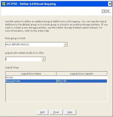 Asociar unidad lógica a host, definir mapping, presentar unidad a host